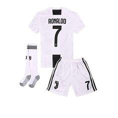 6fe9bd4eb8aa 2018-2019 Home C Ronaldo  7 Juventus Kids Or Youth Soccer Jersey  amp