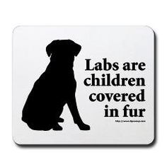 Labs are Fur Children - Yes, even my husband admitted that they are our kids