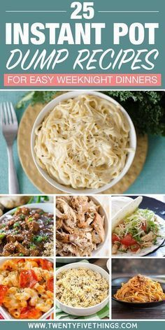 Dump dinner recipes for your Instant Pot Let your instant pot do the cooking so you can spend time with your family. Just dump and push start! #instantpot #dumprecipes #dinnerrecipes #easydinner