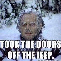 Classic #jeep freezing
