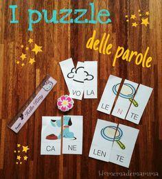 I puzzle delle parole per imparare la divisione in sillabe