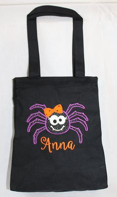 halloween trick or treat bag halloween tote bag by shirehillbaby - Halloween Handbag