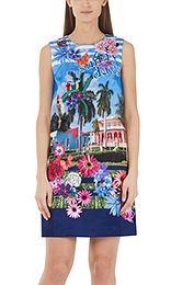 Dress with appliqué decorations | marc-cain.com/en