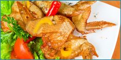 Alitas de pollo con miel y limón