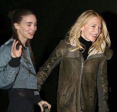 Cate & Rooney last night  #cateblanchett #rooneymara #tipsyroon #happycate #myedit #ifonlyitwastrue #caterooneylove