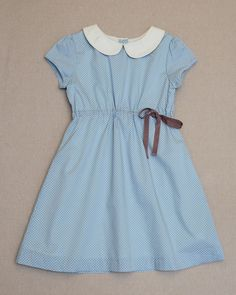 Vintage Dot Amelie Dress | A party dress for every occassion, the Amelie pairs a peter pan collar with a ribbon tie at the waist for a timeless classic. #Olive Juice #girlsEasterdress