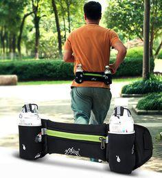 Sports Running Fanny Pack Waist Bag Fitness Racing  Pouch  Jogging Cycling Belt #Unbranded Mens Waist Bag, Hydration Pack, Hip Bag, Zipper Bags, Sports Equipment, Cool Bikes, Marathon, Jogging, Fanny Pack