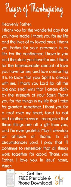 Prayer of Thanksgiving – God wants us to give Him thanks in always. 1 Thessalonians tells us that constant thanksgiving is His will for us. This simple prayer for thanksgiving will help you realign your heart and focus on the things that are going we Prayer Of Praise, Prayer Scriptures, Faith Prayer, God Prayer, Power Of Prayer, Bible Verses, Thanksgiving Prayers For Family, Thanksgiving Quotes, Thanksgiving Prayer Catholic