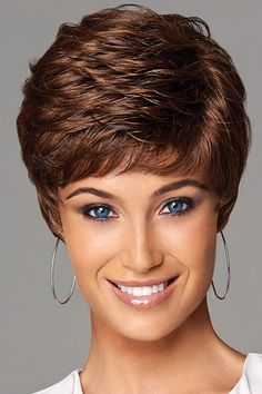 Wigsis provides variety of Easy Auburn Boycuts Wavy Short Wigs with good customer service and fast shipment, including short curly wigs,short brown wig for customer. Short Grey Hair, Short Hair With Layers, Short Hair Cuts For Women, Short Hairstyles For Women, Wig Hairstyles, Hairstyles 2016, Cheap Human Hair, Human Hair Wigs, Gabor Wigs