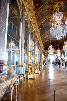 A different view of the Versailles Hall of Mirrors Versailles Hall Of Mirrors, Paris France, Palace, Around The Worlds, Spaces, Architecture, Photography, Travel, Museums
