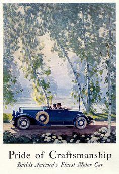 Vintage car ad for Pierce Arrow Poster Ads, Car Posters, Vintage Advertisements, Vintage Ads, Vintage Dress, Vintage Designs, E Motor, Pin Up, Car Advertising