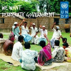 all we want is Democratic Government. Like & share if you agree!  Photo: UNDP