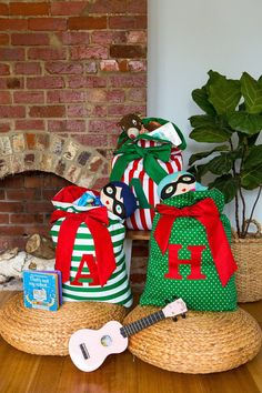 Personalised Santa Sack with Large Letter Appliqué