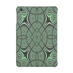 Green trendy pattern iPad mini retina cases