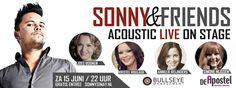 Aanstaande zaterdag is het zover. Dan vindt namelijk de eerste editie van het nieuwe muzikale concept 'Sonny & Friends' plaats in Happerij & Tapperij De Apostel te Weert.    http://www.bullseyemanagement.nl/index.php/aanstaande-zaterdag-sonny-friends/#!/