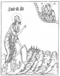 Markelov Russian Orthodox Icon  Heilige Johannes de Doper