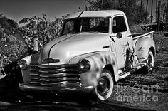 Sure a fine B&W presentation of the vintage Chevy truck- terrific light and image clarity!!