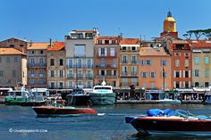 Port of St-Tropez with vintage Riva