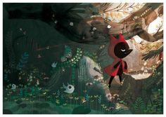Le Petit Loup Rouge by Amélie Fléchais, via Behance