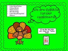 FREE Thanksgiving--Turkey Freebie from KiddosConnect on TeachersNotebook.com -  (19 pages)  - This freebie is 2 games focusing on reading literacy (CVC words) and math (graph). The games will reinforce skills in a FUN format!