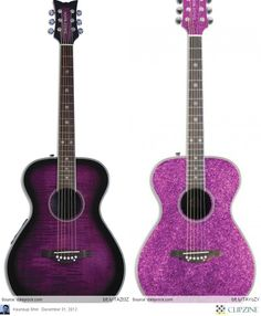 Daisy rock pixi electric acoustic plum purple!💜🎼🎵 the one on the left!! Love it
