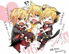 Len, 96Neko, and Valshe. (I know 96Neko and Valshe are Utaite's, but I might as well put Utaite's and Vocaloids together.)