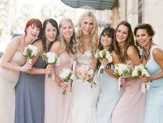 mis-matched brides maids