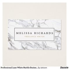 Shop Professional Luxe Minimalist White Marble Business Card created by Personalize it with photos & text or purchase as is! Salon Business Cards, Makeup Artist Business Cards, Unique Business Cards, Professional Business Cards, Business Names, Business Card Design, Business Card Maker, Minimalist Business Cards, White Marble