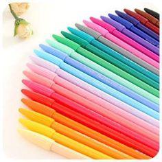 24 Color Monami Plus 3000 Felt Tip Gel Pens (0.3mm)
