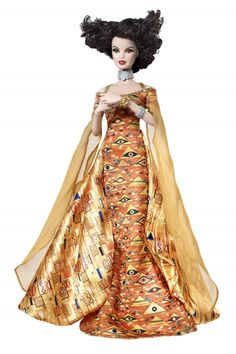 The Barbie Collector Museum Collection Gustav Klimt Doll is a Barbie Doll inspired by well-renowned Austrian Symbolist painter Gustav Klimt. The Museum Collection is a new Barbie Collector series insp. Gustav Klimt, Klimt Art, Mattel Barbie, Sonia Delaunay, Barbie Style, Project Runway, Poppy Parker, Musa, Barbie Collector