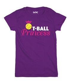 Purple 'T-Ball Princess' Tee [Toddler & Girls] $11.99
