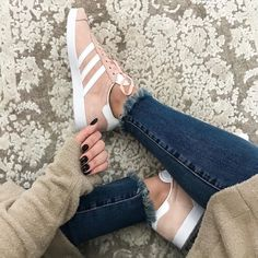 Sunday sneaks  why is everything cuter in pale pink?! I just couldn't resist these beauties! Click the link in my profile for instant outfit details or via the @liketoknow.it app! [nails are dip powder! I linked exact and similar polish too] http://liketk.it/2ssqa #liketkit #LTKshoecrush