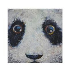 """Adorable """"sad panda"""" artwork on high quality stretch canvas. Find this and other panda artwork at www.pandathings.com"""