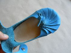 Little blue ballerina handmade by...YOU! with First Baby Shoes