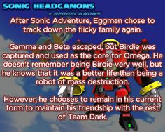 ☆ Sonic Headcanons ☆ The Sonic, Sonic The Hedgehog, Sonic Party, Sonic Adventure, Eggman, Sonic Franchise, Sonic And Shadow, Nintendo Characters, Better Life