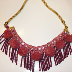 Pon pon necklace