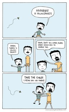 Hmmm, this guy looks familiar. Something about the mustache. From Poorly Drawn Lines by Reza Farazmand