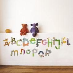 Animals Alphabet Kids Wall Decals