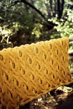 Ravelry: Burlwood Throw pattern by Kalurah Hudson