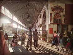 Maputo Railway Station by Zinvolle - Photo taken in Maputo, Mozambique Maputo, Far Away, Beautiful Artwork, Europe, Portraits, Wall Art, Places, People, Travel