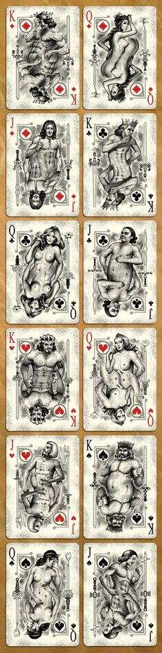 Johnny Whaam, the designer of Old Masters and Elegance deck brings to you his latest work, Physique Playing Cards by USPCC