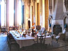 Arundel Castle: The Dining Room is situated in the medieval chapel , originally built by Henry II. The Duke who was not of the faith converted it into a dining room in Belton House, Harewood House, Houghton Hall, London Dreams, Arundel Castle, Castle Howard, Bognor Regis, Vintage Interiors, French Interiors