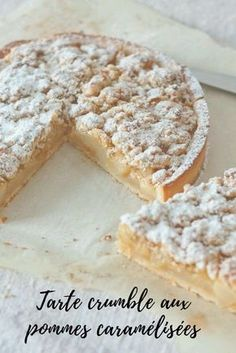 Caramelized apple or pear crumble pie - Dessert Recipes French Desserts, Just Desserts, Delicious Desserts, Dessert Recipes, Yummy Food, Desserts Nutella, French Recipes, Cheesecake Recipes, Sweet Pie