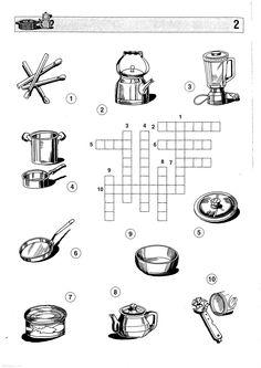 Ejercicios con los utensilios de cocina pesquisa google for Utensilios de cocina ingles