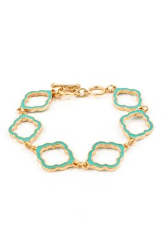 Madison Cutout Bracelet in Turquoise on Emma Stine Limited