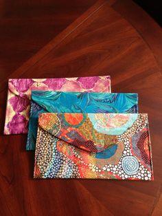 Envelope clutches, On 3 Designs by Julie Lange