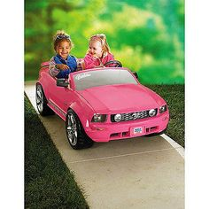 Kids Electric Car Power Wheels Girls Barbie Mustang Battery Operated Ride On Toy - http://hobbies-toys.goshoppins.com/electronic-battery-wind-up-toys/kids-electric-car-power-wheels-girls-barbie-mustang-battery-operated-ride-on-toy/