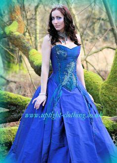 By uptight clothing stunning purple green silk corset wedding dress