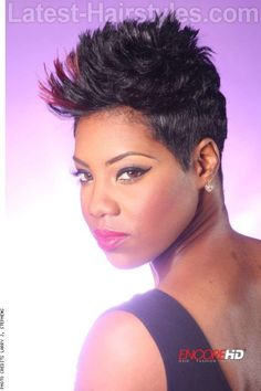Short Faux Hawk Hairstyle for Summer