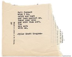 Typewriter Series #813 by Tyler Knott Gregson